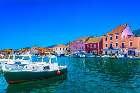 Picturesque tourist resort on Island Hvar, Starigrad town, Croatia.