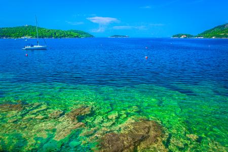Marble blue vivid landscape in summertime, Island Vis.