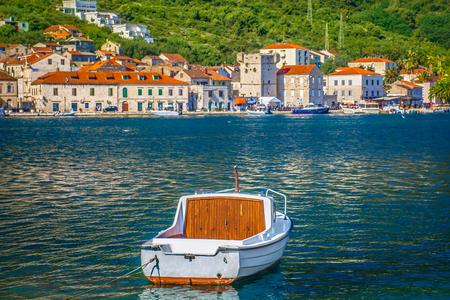 Scenic view at picturesque historic town Vis in Dalmatia region, Croatia, european travel destinations.