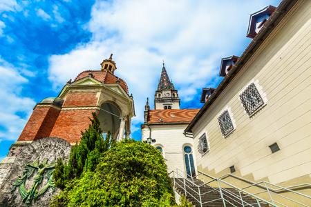 Scenic view at medieval architecture in Northern Croatia, marian shrine. 版權商用圖片