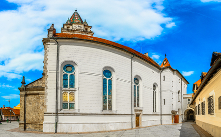 Scenic view at medieval architecture in marian shrine Marija Bistrica, Northern Croatia.