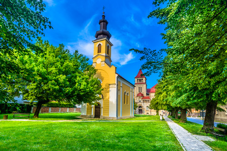 Scenic view at medieval colorful architecture in Krizevci town, Croatia. 版權商用圖片