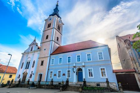 Scenic view at old landmark church in Krizevci town, Northern Croatia. 版權商用圖片 - 108718167