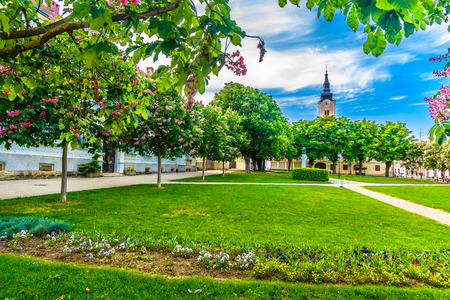 Scenic view at public park in Krizevci town, Croatia Europe. 版權商用圖片 - 109979022