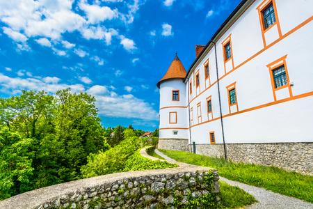 Scenic view at stone architecture in Ozalj town, Central Croatia.