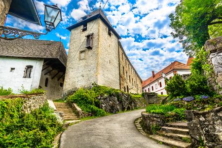 Scenic view at medieval architecture in Ozalj town, Croatia. 版權商用圖片