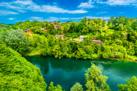 Aeral view at colorful landscape in Central Croatia, Europe.