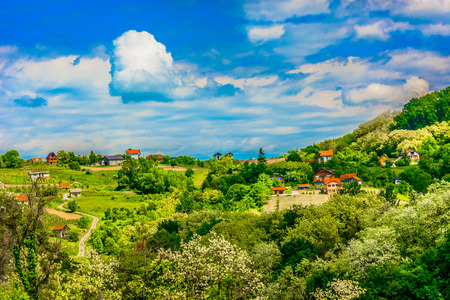Scei view at marble colorful landscape in Zagorje region, Croatia travel places.