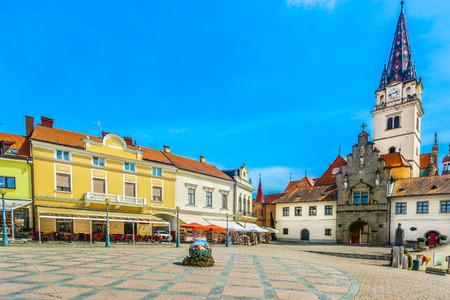 Scenic view at colorful famous architecture in amazing Marija Bistrica marian shrine, Croatia.