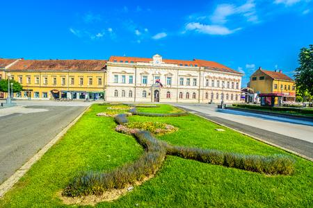 Scenic view at colorful springtime landscape in Koprivnica Croatia.