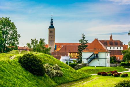 Scenic view at picturesque old town Varazdin in Croatia, popular historical tourist resort. 版權商用圖片