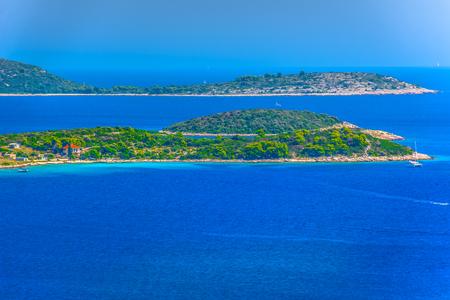 Scenic view at blue Adriatic Sea in Croatia, european travel places. 版權商用圖片