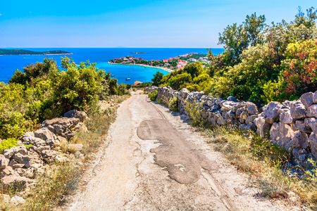 Scenic view at colorful landscape in Southern Croatia, Europe.