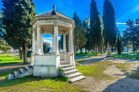 Scenic view at Sustipan park in Split city, Croatia Europe. 写真素材