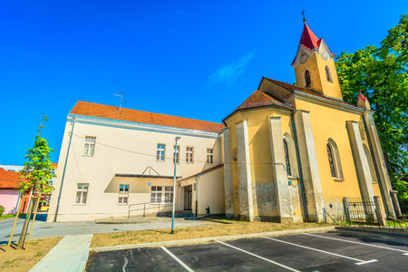 Scenic view at marble old church in Northern Croatia, Koprivnica city center. / Selective focus. 版權商用圖片