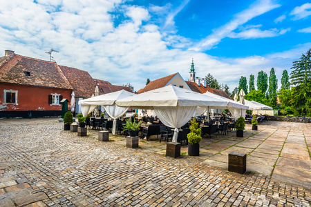 Scenic view at marble old square in Northern Croatia, Varazdin city center.