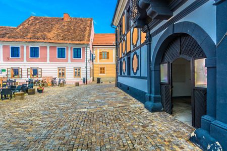 Scenic view at famous square in baroque town Varazdin, Croatia. Stock fotó