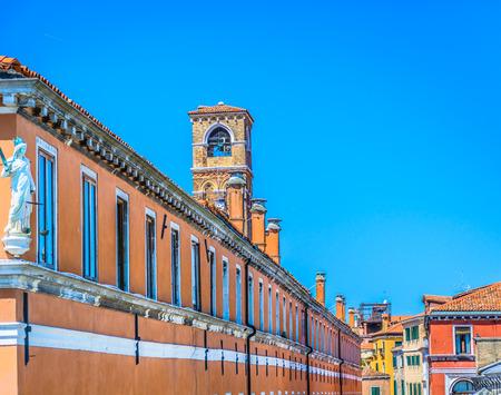 Scenic view at colourful architecture in Venice city, Croatia Europe.