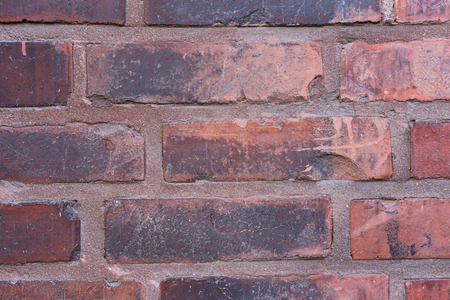 Red & black rustic brick wall Stock Photo