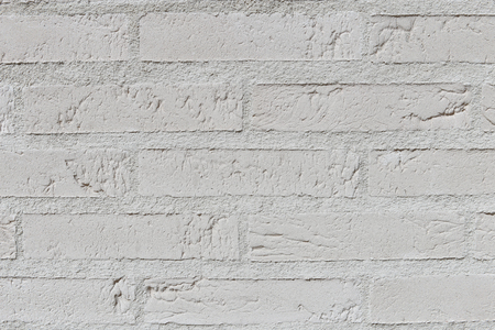 White brick wall closeup Stock Photo