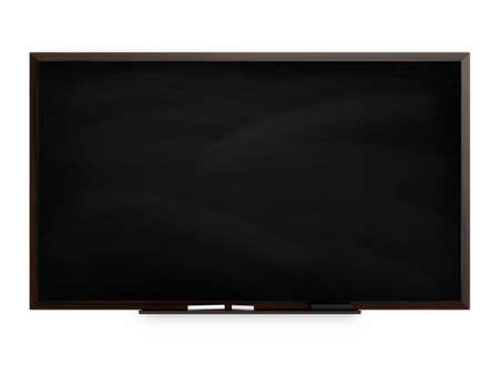 white chalk: Blackboard with chalk isolated on a white background