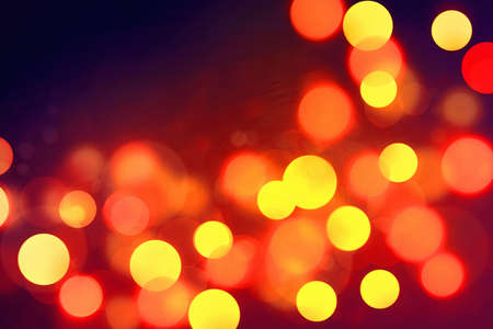 violet red: Defocused Lights Background. Red, yellow, violet colors. Stock Photo