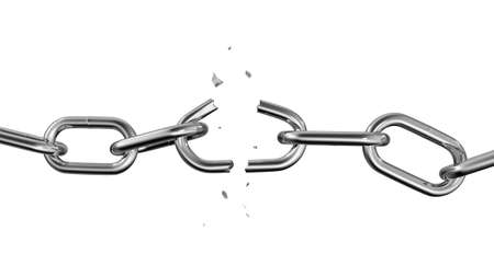 Broken Chain. Freedom Concept. 3d illustration Stock Photo