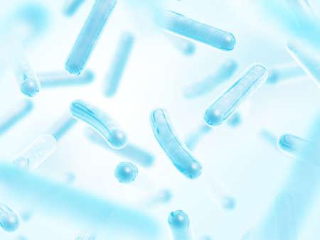 Probióticos Lactobacillus acidophilus Foto de archivo
