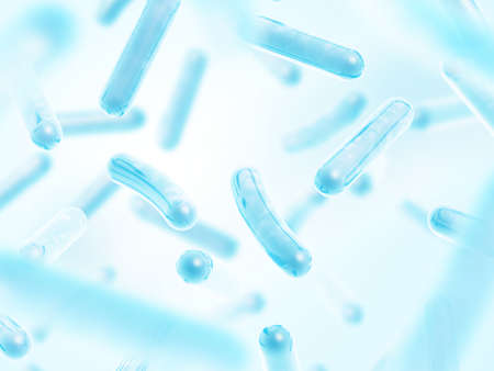 Probiotica Lactobacillus acidophilus Stockfoto