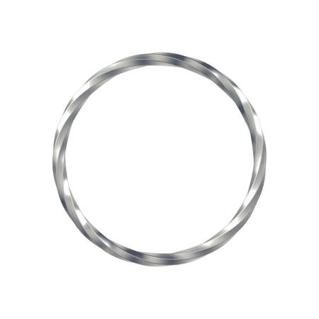 Metal ring isolated on white background. 3d illustration. Single object. Foto de archivo - 162773896