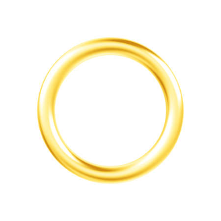 Metal ring isolated on white background. 3d illustration. Single object. Stock fotó
