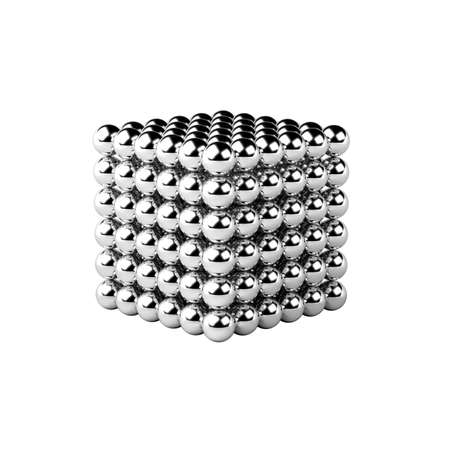 Magnetic metal balls isolated on white