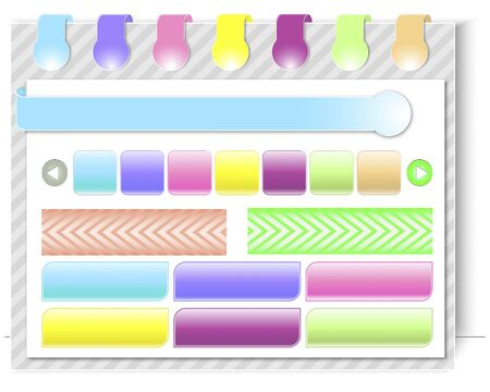 Website design template with navigation elements, buttons and bubbles illustration Stock Vector - 14169631
