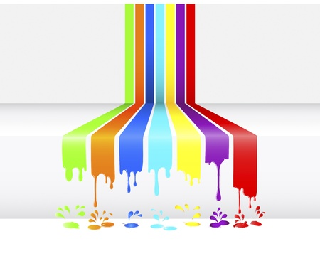 pour: Abstract background of paint dripping, blots and drops  illustration  Illustration