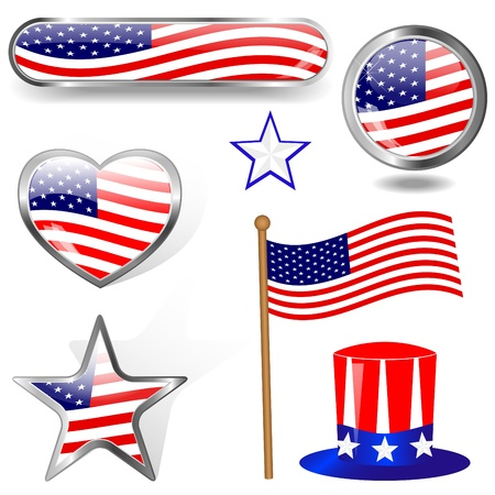 Independence Day  Collection of design elements Vector
