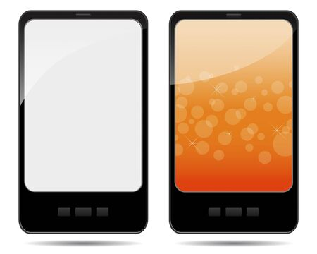 Two tablet pc with abstract background and blank illustration Stock Vector - 14169744