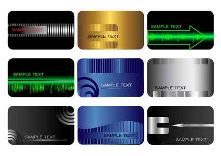 debit: Set of Business cards