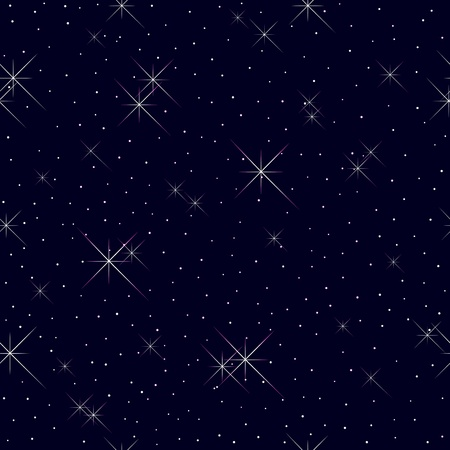 Seamless pattern with stars and lights  Illustration