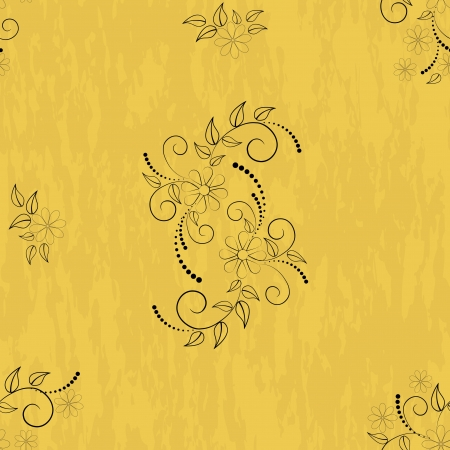 Seamless patterns with flowers on grunge background Stock Vector - 14239197