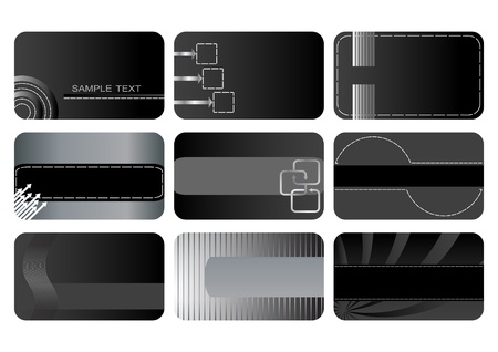 Set of Business cards. vector. Vector