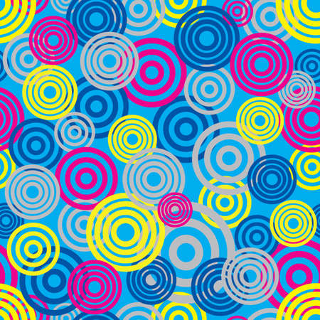 Seamless pattern with circles. vector.  Vector