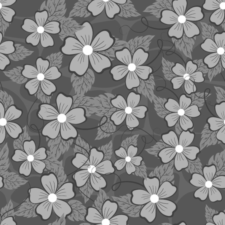 Seamless patterns with flowers and stones. Vector illustration. Stock Vector - 14265910