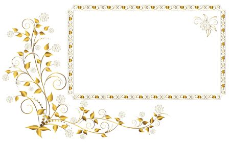golden frame with floral ornament. Stock Vector - 14272883