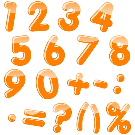 punctuation: Set of numbers and punctuation marks. Vector. 10 EPS.