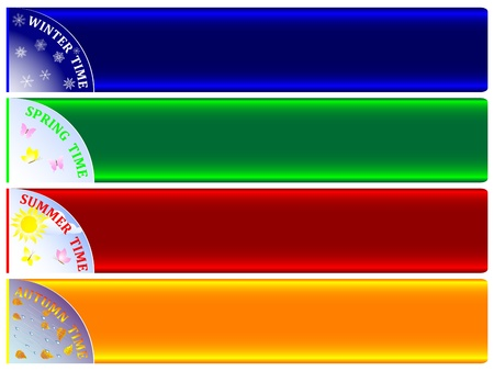 Set of banners-four seasons Vector