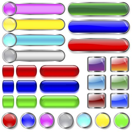 10eps: The big collection buttons for web. 10EPS Vector. Illustration