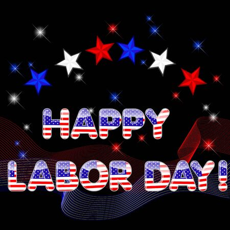 Labor Day background with stars Vector