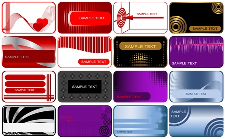 Set of 16 business and gift cards Stock Vector - 14437875