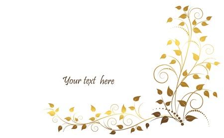 dorato: illustrazione di ornamenti floreali.