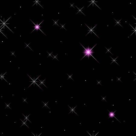 Seamless pattern with stars and lights. Stock Vector - 14718869